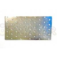PIASTRA IN METALLO RETTANGOLARE DRITTA mm.200x100 PER TRAVI E COPERTURE IN LEGNO