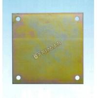PIASTRA RETTANGOLARE PESANTE mm.270x230 PER COPERTURE IN LEGNO GAZEBI PENSILINE