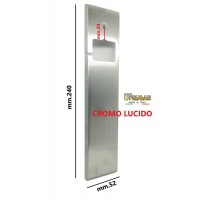 PLACCA AVVOLGITORE PER TAPPARELLE IN OTTONE CROMO LUCIDO mm.240x52 UNIVERSALE
