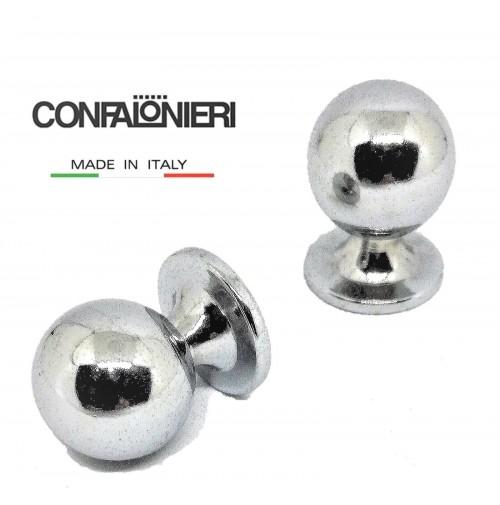 POMELLO POMOLO PER CASSETTO ANTA SFERA mm.20 CROMO CONFALONIERI MB00920 Fil.4mm