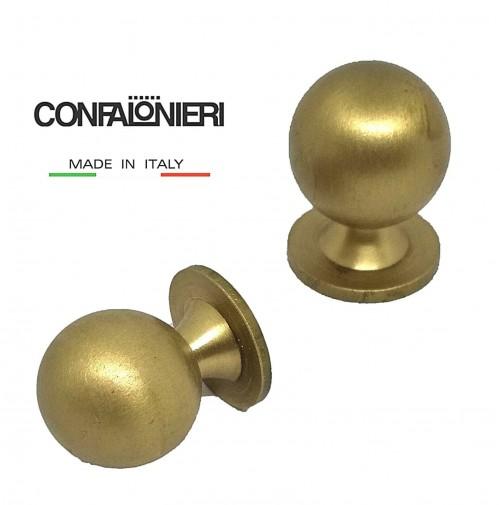 POMELLO POMOLO PER CASSETTO SFERA mm.20 ORO OPACO CONFALONIERI MB00920 Fil.4 mm