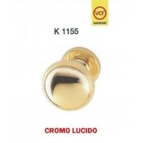 POMOLO POMELLO PER PORTA VALLI E VALLI K1155 CROMO LUCIDO D.mm.55 fisso/girevole