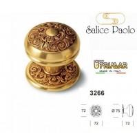 POMOLO PORTA PORTONE FISSO GIREVOLE SALICE RENNES 3266 PATINATO ORO VECCHIO D.75