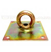 Piastra con anello per ancoraggio base mm.150x150 DIAM. interno Anello mm.40
