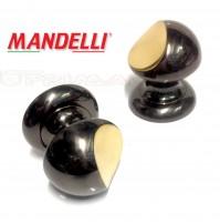 Pomolo Mandelli per porta legno Art.404 Gold Black serie Vintage Made in Italy