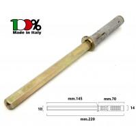 REGGIMENSOLA A SCOMPARSA  mm.10x145 TASSELLO D.14 REGGI MENSOLE RIPIANI LEGNO