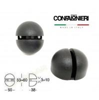 REGGIMENSOLA REGGI MENSOLE CONFALONIERI MS01420 sp. ripiano 3-10 mm. Nero Opaco
