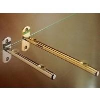 REGGIMENSOLA REGGI MENSOLE IN OTTONE PIENO mm.100 per ripiani in vetro e legno