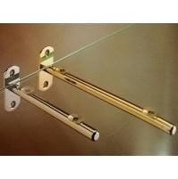 REGGIMENSOLA REGGI MENSOLE IN OTTONE PIENO mm.150 per ripiani in vetro e legno