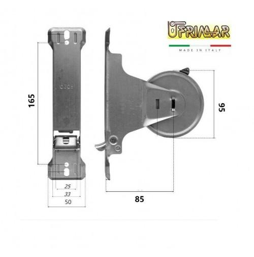 RUOTA MOLLA AVVOLGITORE PER TAPPARELLE AVVOLGIBILI INT. mm.165 MT.8 CON PLACCA