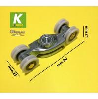 Scorrevole Koblenz serie 0500 portata kg.80/120 solo scorrevole senza staffa