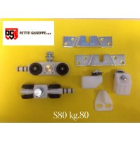 Scorrevole in kit portata KG.80 S80 con Binario cm.190  Monosilent Pettiti