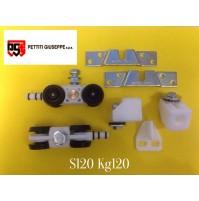 Scorrevoli in Kit portata KG.120 S120 Monosilent Pettiti per porta scorrevole
