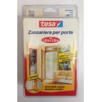 ZANZARIERA PER PORTE A 2 PANNELLI RETE BIANCA misura H.2,50xL.1,20 MT.